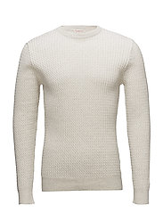 Cotton/Cashmere Cable Knit - GOTS - STAR WHITE