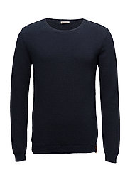Pique crew neck knit  - GOTS - TOTAL ECLIPSE