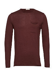 Fine single knit with roll edges - - DECADENT CHOKOLADE