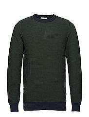 3 col. pattern crew knit - GOTS - BLACK FORREST