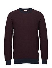 3 col. pattern crew knit - GOTS - DECADENT CHOKOLADE