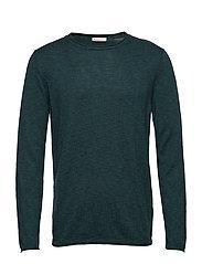 Single knit with rool edge/Vegan - BISTRO GREEN
