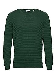 FIELD o-neck sailor knit - GOTS/Veg - PINENEEDLE