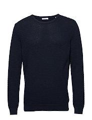 FIELD o-neck sailor knit - GOTS/Veg - TOTAL ECLIPSE