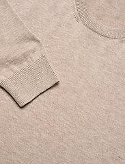 Knowledge Cotton Apparel - FIELD O-neck long stable cotton kni - podstawowa odzież z dzianiny - light feather gray - 2