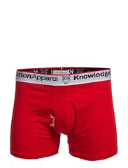 Underwear 2pack Solid/Owl GOTS - POMPEAIN RED