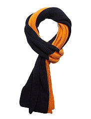 Two colored scarf - GOTS - PERSIMMON ORANGE