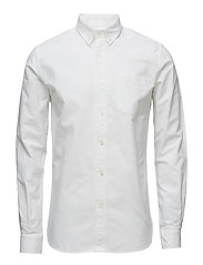 Button Down Oxford Shirt - GOTS/Veg - BRIGHT WHITE
