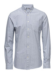 Button Down Oxford Shirt Striped - - SKYWAY