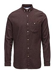 Melange Effect Flannel Shirt - GOTS - DECADENT CHOKOLADE