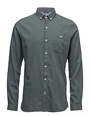 Melange Effect Flannel Shirt - GOTS - GREEN GABLES