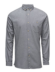 Melange Effect Flannel Shirt - GOTS - GREY MELANGE