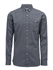 Melange Twill Shirt- GOTS - TOTAL ECLIPSE