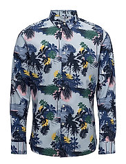 Palm sea printed shirt - poplin - G - SKYWAY