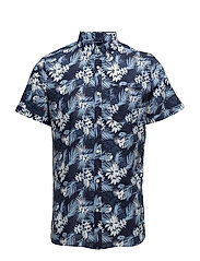 All over printed co/linen shirt - S - TOTAL ECLIPSE