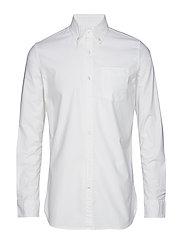 ELDER LS oxford shirt - GOTS/Vegan - BRIGHT WHITE