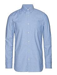 ELDER LS oxford shirt - GOTS/Vegan - LAPIS BLUE