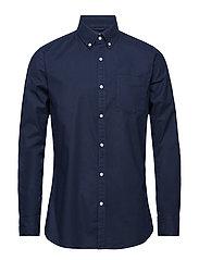 ELDER LS oxford shirt - GOTS/Vegan - TOTAL ECLIPSE