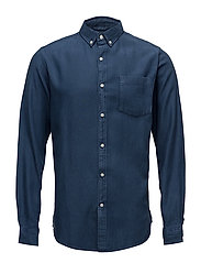 Twill shirt/Vegan - INSIGNA BLUE