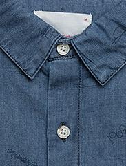 Knowledge Cotton Apparel - Denim shirt with concept print - GO - denim shirts - deep sea - 2
