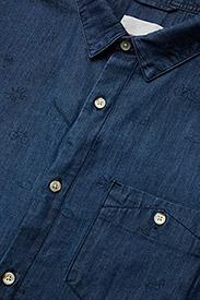 Knowledge Cotton Apparel - Denim shirt with concept print - GO - denim shirts - deep sea - 3