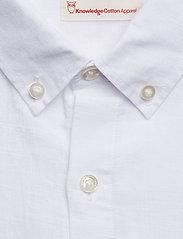 Cotton linen long sleeved shirt - G - BRIGHT WHITE