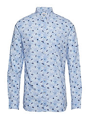 Shirt with small palm print - GOTS - SKYWAY