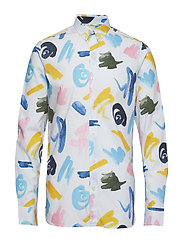 Shirt with waterbased AOP - GOTS - BRIGHT WHITE