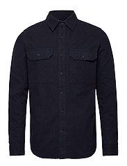Long sleeve moleskin shirt - GOTS/V - TOTAL ECLIPSE