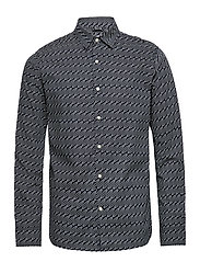 Long sleeve poplin shirt with AOP - - TOTAL ECLIPSE