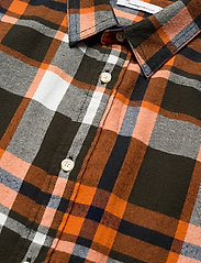 Knowledge Cotton Apparel - LARCH casual fit checked flannel sh - denim overhemden - forrest night - 3