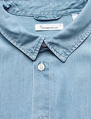 Knowledge Cotton Apparel - ELDER regular fit denim Tencel™ shi - koszule w kratkę - vintage indigo - 2