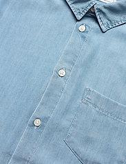 Knowledge Cotton Apparel - ELDER regular fit denim Tencel™ shi - koszule w kratkę - vintage indigo - 3