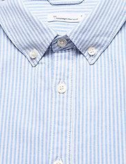 Knowledge Cotton Apparel - ELDER regular fit owl striped oxfor - linnen overhemden - lapis blue - 2