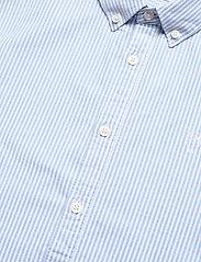 Knowledge Cotton Apparel - ELDER regular fit owl striped oxfor - linnen overhemden - lapis blue - 3