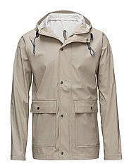 Rain Jacket/Vegan - LIGHT FEATHER GRAY