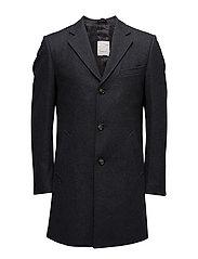 Wool Coat - GRS - DARK GREY MELANGE