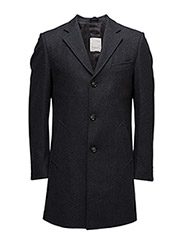 Wool Coat - GRS - DARK GREY MELANGE