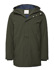 Long Soft Shell Quilted Jacket - GR - FORREST NIGHT
