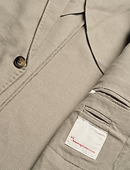 Knowledge Cotton Apparel - Structured blazer - single breasted blazers - feather gray - 4