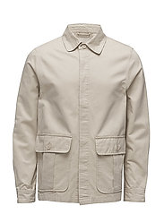 Twill short jacket - GOTS - LIGHT FEATHER GRAY