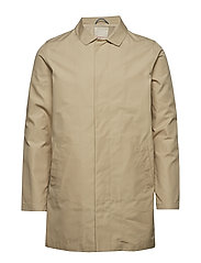 Funtional carcoat jacket - GOTS/Veg - LIGHT FEATHER GRAY
