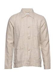 PINE linen overshirt - Vegan - LIGHT FEATHER GRAY