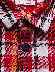 Knowledge Cotton Apparel - PINE LS checked overshirt - GOTS/Ve - overshirts - scarlet - 2