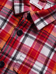 Knowledge Cotton Apparel - PINE LS checked overshirt - GOTS/Ve - overshirts - scarlet - 3
