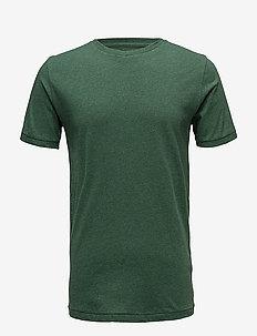 ALDER basic tee - GOTS/Vegan - short-sleeved t-shirts - black forrest melange