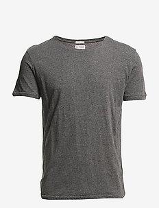 ALDER basic tee - GOTS/Vegan - perus t-paidat - dark grey melange