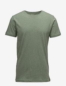 ALDER basic tee - GOTS/Vegan - short-sleeved t-shirts - gren melange