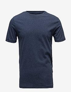ALDER basic tee - GOTS/Vegan - kortermede t-skjorter - insigna blue melange