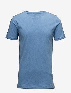 ALDER basic tee - GOTS/Vegan - short-sleeved t-shirts - light blue melange